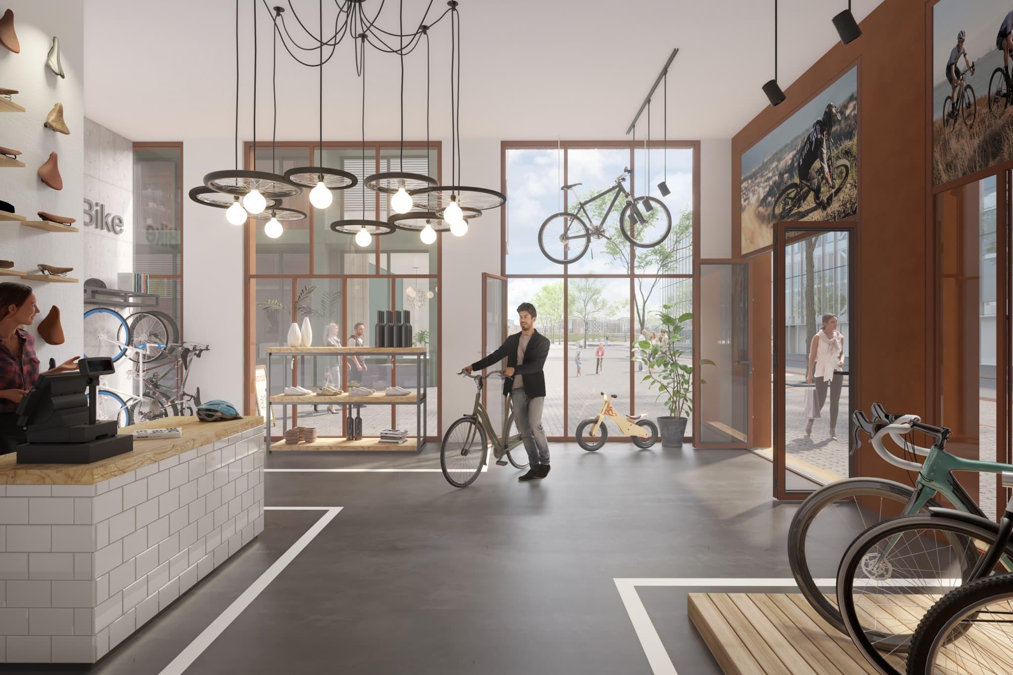 De ideale plek voor een fietsenwinkel