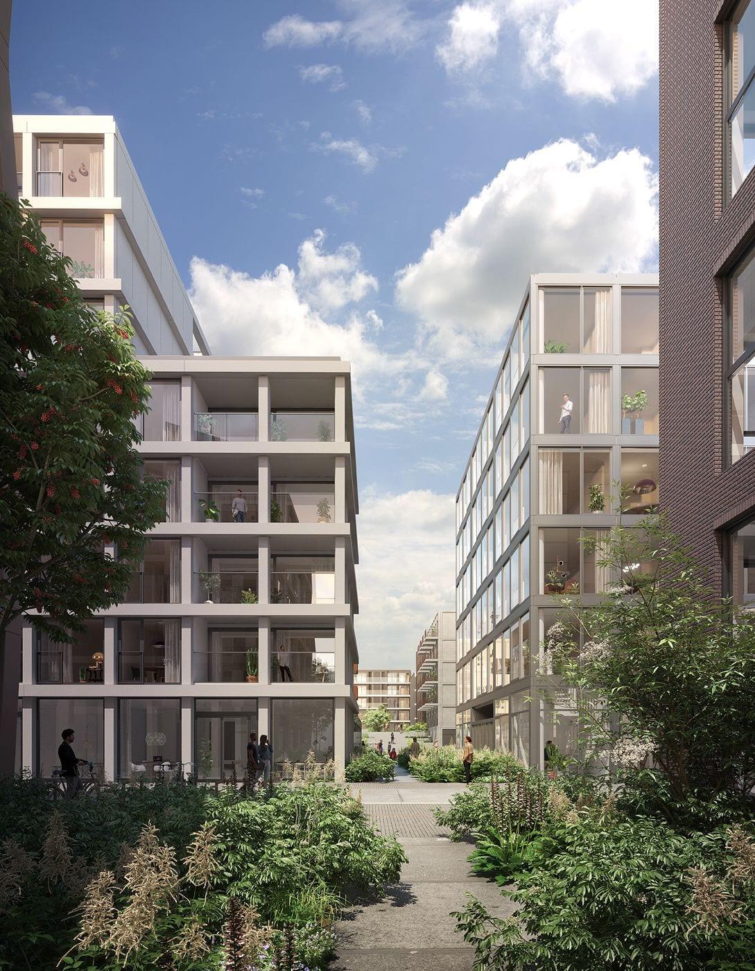 De binnentuin tussen de VOC kade en Oostenburgermiddenstraat